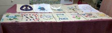 פיסות שלום של נשות צופית - תרומה לשטיח השלום
